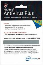 McAfee Antivirus Plus 2017 1 PC 1 User - Latest software 1 Year