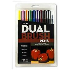 Tombow Dual Brush Pen Art Markers, Primary, 10-Pack New