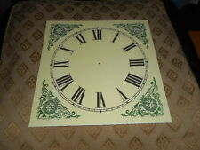 "Ogee/ Wall/ Shelf Paper Clock Dial-7 1/4"" M/T- Roman-Antique Cream- Clock Parts"