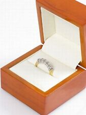 Yellow/White Gold 0.5ct 5 Diamond Engagement Ring Sz P £1800 BNIB