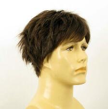 Perruque homme 100% cheveux naturel châtain ref THOMAS  6spw