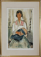 Listed Artist AMEDEO MODIGLIANI, Plate Signed Aquatint, 1926-1927