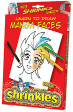 LEARN DRAW MANGA FACES EMBELLISHMENTS SHRINKLES SHRINKIE SHRINK ART BUMPER BOX