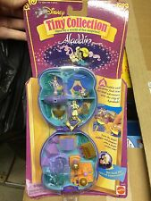 NIP VTG Mattel Disney Tiny Collection Aladdin Playcase (Polly Pocket type)