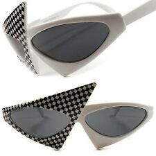 Celebrity Fashion Unique Vintage Retro Funky White Hot Womens Cat Eye Sunglasses