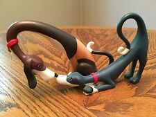 Hot Dogs-Want To Play? Hydie & Zeeky A3937 Border Fine Arts