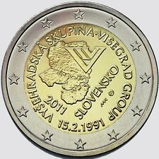 Slovakia 2011, 2 Euro - 20th anniversary of the formation of the Visegrad Group