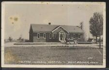 RP Postcard WEST BRANCH Michigan/MI  Tolfree Memorial Hospital Building 1930's