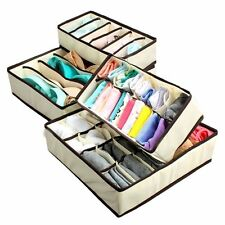 Easy 4 Foldable Drawer Dividers, Storage Organisers,Innerwear Storage Box