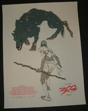 300 Movie Poster Print Tomer Hanuka Numbered Limited Edition 2012 Mondo