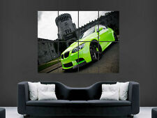 BMW M3 NEON GREEN  ART HUGE LARGE WALL  POSTER PICTURE PRINT !
