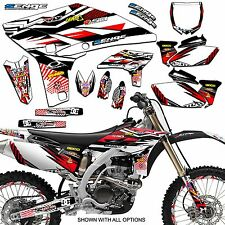 2006 2007 YZ 250F 450F GRAPHICS KIT YZ250F YZ450F YAMAHA DECO DECALS 4-STROKE