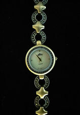 Vintage Women's ALTO Quartz Marcasite and Mother of Pearl, Brushed Metal Watch