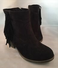 Rock & Candy Hawley Black Fringed Ankle Boot Womens Sz 5 Great Condition