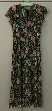 NEU_ZARA WOMAN KLEID_M_FLORAL_BLUMEN_BOHO FLOWER DRESS_MIDI_100% VISCOSE_NEW