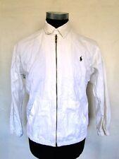 Ralph Lauren Polo Jacke Blouson Sommerjacke Weiß Unifarben Gr. M