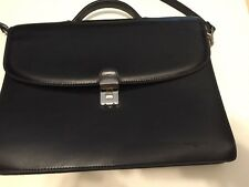 Frederic T French Authentic Black Leather Briefcase bag case laptop
