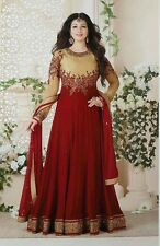 Stylish red colour wedding designer Anarkali suit salwar kameez Dress Material
