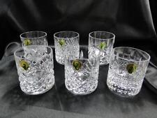 "Waterford Crystal, Heritage: Set of 6 Whiskey Tumblers w/ Orig Box, 3 1/8"", NEW"