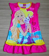 sellcartoon BARBIE Pink Girls Kids Nighty Dress Size XL Age 6-8 #08 FREE SHIP