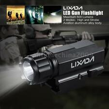 LIXADA P10 LED Tactical Gun Flashlight Handgun Torch Light 2 Modes 600LM AR H8T8