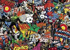 Marvel Comic Stickerbomb Hoja @ 1m X 1m (superhéroe, Cartoon, coches,) Color