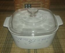 "Corning Corelle Pyrex ""Provincial Blue"" 3 Quart Covered Casserole A3B / A9C Lid"