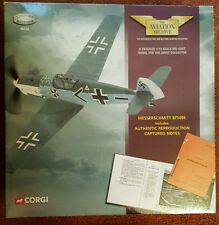 Corgi Aviation Messerschmitt Bf109E inc Reproduction Captured Notes 49205 NEW