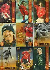 Futera MANCHESTER UNITED 1998 full base set 99 cards