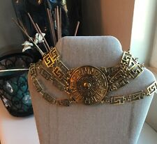 NWOT Versace X H&M Gold Choker Layered Necklace For HM