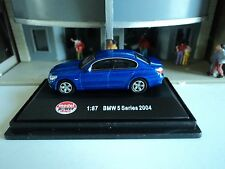 MODEL  POWER   BMW 5 SERIES     BLUE    1/87  HO  DIE CAST