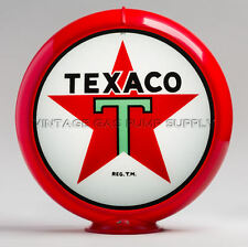 "Texaco Star 13.5"" Gas Pump Globe w/ Red Plastic Body (G192)"