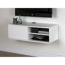 "South Shore Agora 38"" Wide Wall Mounted Media Console, Pure White"