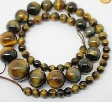 Natural! 6-12mm tiger's eye Gemstone Necklace 18''