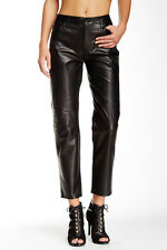 J Brand Casey 100% Black Leather Boyfriend Pants SZ 28 $1089