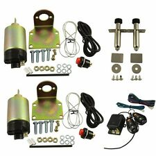 85LB Shaved Door Handle Kit 2 Doors Popper Solenoid Street Rat Hot Rod Car Truck