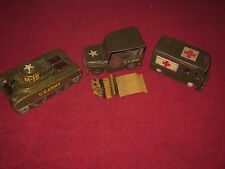 Lot of SSS International US ARMY Truck Combat Carrier Japan Tin Toy Cars! LOOK!
