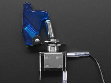Heavy Duty Illuminated Toggle Switch with Guard Cover and LED - Blue