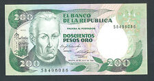 COLOMBIA  200 Pesos Oro  20-7-1984 UNC  P429a  JOSE MUTIS, CHURCH AND MONASTERY