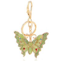 Handbag Buckle Charms Accessories Green Butterfly Keyrings Key Chains HK110