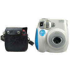 Fujifilm INSTAX MINI 7s Instant Camera (Blue) + Polaroid Snap Case Bundle