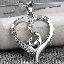 MOTHERS DAY DEALS - Silver Heart Necklace Love Gifts For Her Mum Daughter Women