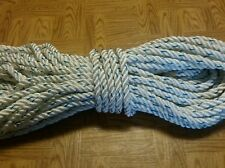 100 feet of 1/2 inch (HEAVY DUTY /HIGH QUALITY) nylon rope with 1 blue tracer