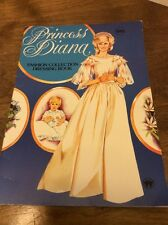Princess Diana Fashion Collection Dressing Book 1984 Paper Dolls