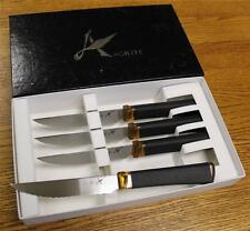 NEW Ontario Agilite 4 Piece Serrated Steak Knife Cutlery Set # 2565 USA 14C28N
