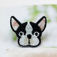 Cute Dog French Bulldog Patch Embroidered Face Iron On Sew On Patches