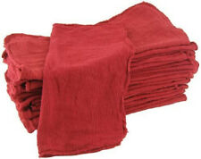 "1000 INDUSTRIAL SHOP RAGS / CLEANING TOWELS RED LARGE 15""x15"" COMMERCIAL TOWELS"