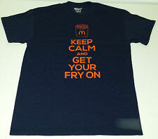 Mc Donalds Keep Calm and Get Your Fry On graphic tshirt Men's M McDonalds