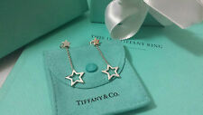 RARE Tiffany & Co Silver Star Lariat Dangle Dangling Earrings w/ Box & Pouch