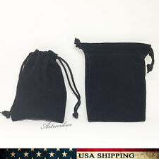 "10 Pieces small Black 2.7""x 3.5"" Jewelry Pouches Velvet Gift Bags Wedding Favors"
